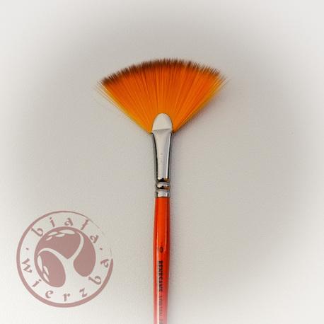 Pędzel Renesans pomarańczowy wachlarzowy - 10 (1)